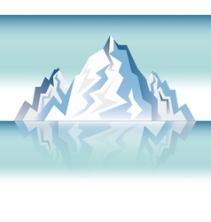 Landscape snowy mountain design vector