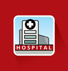 large hospital building vector image