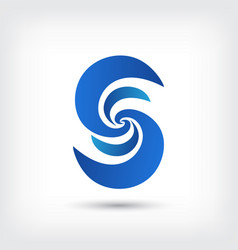 letter s logo curve style design template vector image