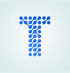 letter t logo halftone icon vector image