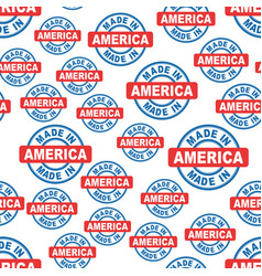 Made in america seamless pattern background icon vector