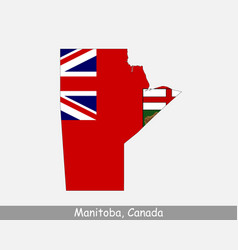 manitoba canada map flag vector image