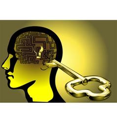 Maze of brain vector