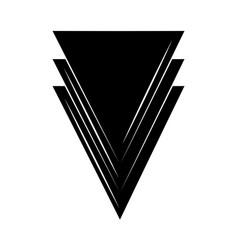 minimalist tattoo boho abstract triangles vector image