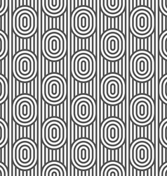 Monochrome striped seamless pattern with ovals vector image vector image