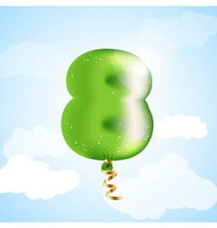Number eight balloon vector
