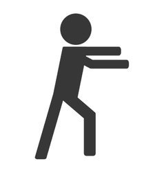Person on fight icon avatar boxing vector image