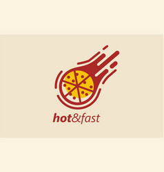pizza fast food sign icon logo vector image