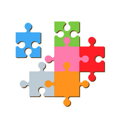puzzle fragments vector image