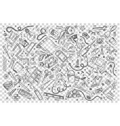repairs doodle set vector image