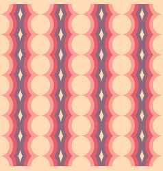 Retro rounded seamless pattern abstract geometric vector