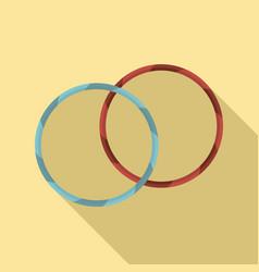 rhythmic gymnastics hoop icon flat style vector image