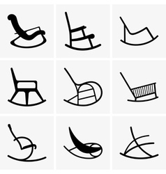 Rocking chairs vector image