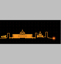 San juan puerto rico light streak skyline vector