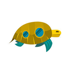 sea turtle toy with windows icon vector image