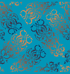 Seamless pattern with oriental motifs and vector