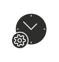 settings calendar icon vector image