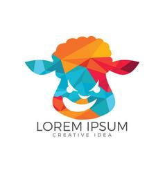 Sheep logo design vector