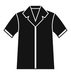 Shirt polo icon simple style vector image