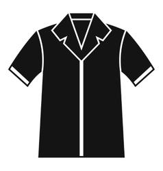 Shirt polo icon simple style vector