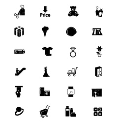 Shopping Solid Icons 5 vector