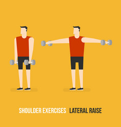 Shoulder exercises lateral raise vector