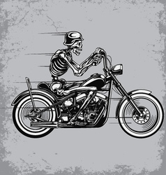 Skeleton Riding Motorcycle vector image