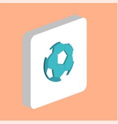 soccer ball computer symbol vector image