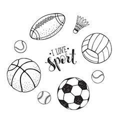 Sport balls collection vector