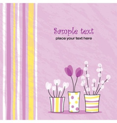 spring floral card vector image