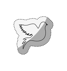Sticker of silhouette pigeon logo design vector