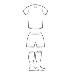 T-shirt shorts and socks template for design vector image