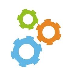 Three gears icon vector