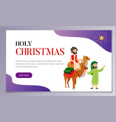 three wise men on camels going to bethlehem vector image