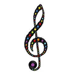 Treble clef consisting of vinyl records vector image