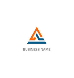 triangle shape abstract business company logo vector image