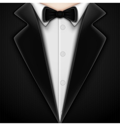Tuxedo with bow tie vector