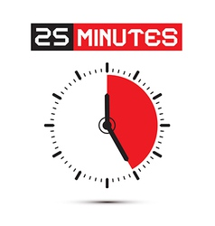 Twenty Five Minutes Stop Watch - Clock vector