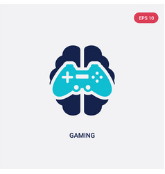 two color gaming icon from artificial vector image