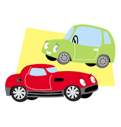 two nice cars vector image