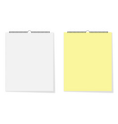 two sheets of paper different colors with a shadow vector image