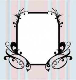 ugly frame vector image