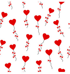 valentines day pattern seamless with heart-shaped vector image