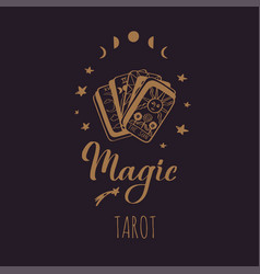 Vintage tarot deck hand drawn vector