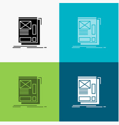 wire framing web layout development icon over vector image