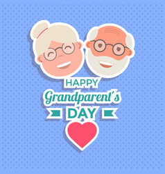 abstract happy grandparents day background vector image vector image