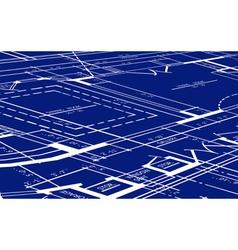 blueprint of floor plan vector image