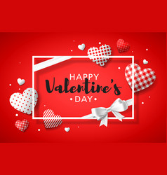 happy valentines day greeting card design with vector image vector image