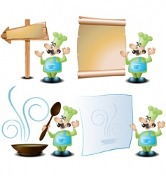 restaurant signs vector image vector image