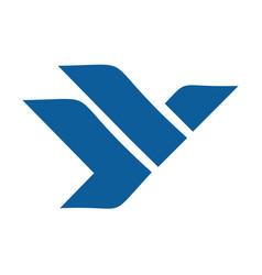 Eagle or falcon logo design vector